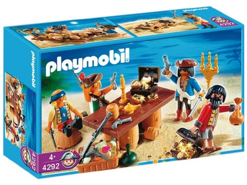 Compare 4292 pirates set pirates with barrels vs 5772 for Table playmobil