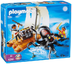 playmobil giant octopus sailing raft treasure