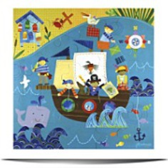 Jill Mc Donald Kids Pirate 25 Piece Puzzle