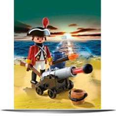 Redcoat Guard With Cannon