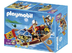 playmobil treasure transporter rowboat swims water